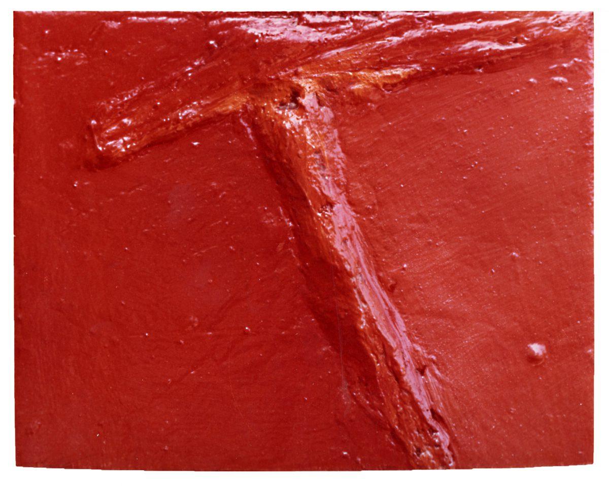Angel Alonso - Signe Rouge - 15 x 20 cm - Huile sur toile - 1973