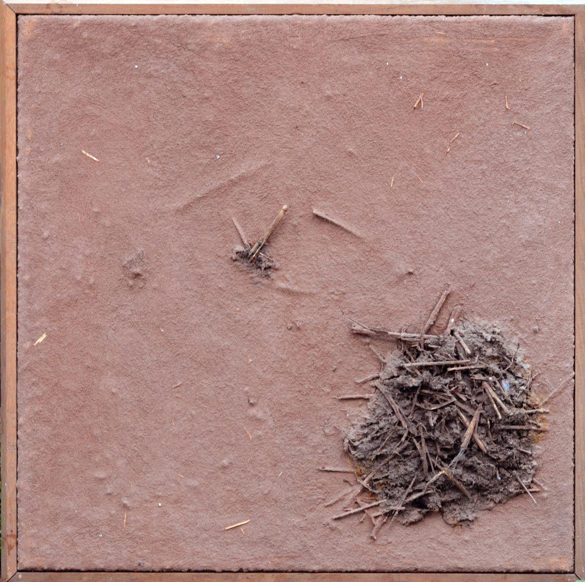Angel Alonso - Paille sur terre violette - Terre élaborée - 60 x 60 cm