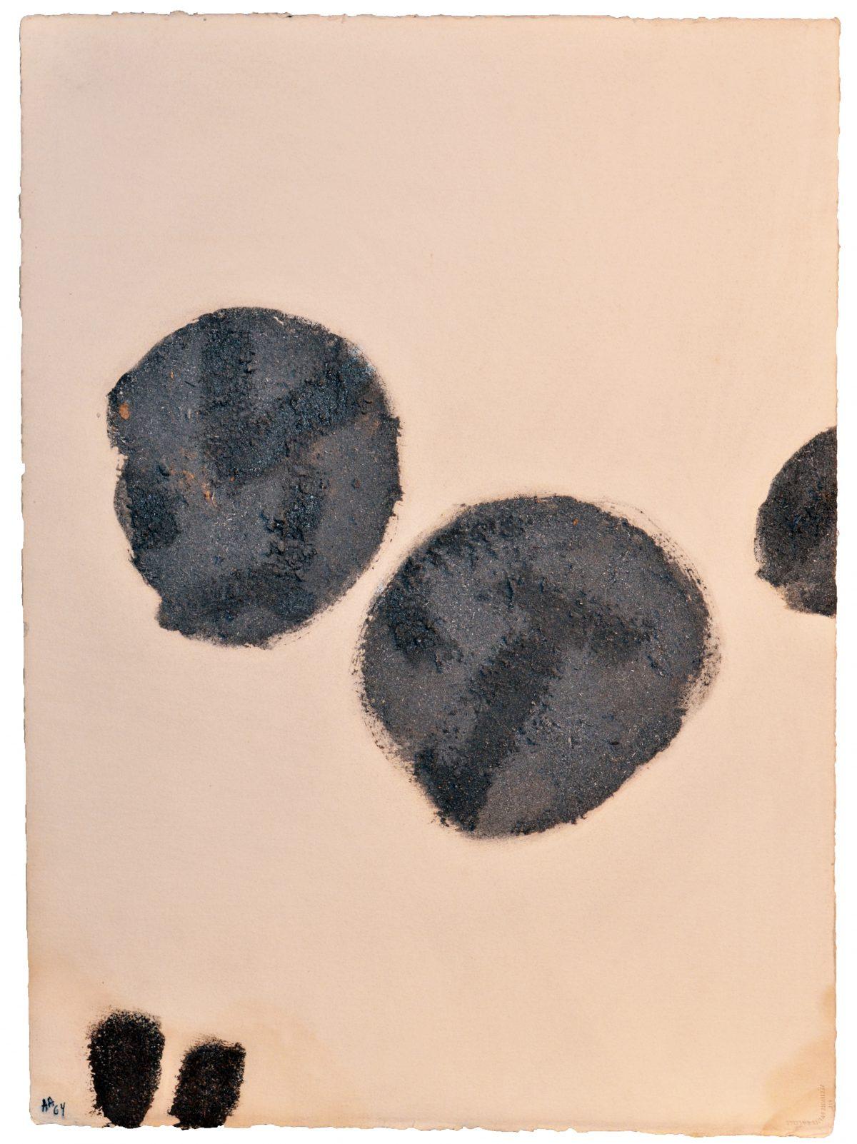 Angel Alonso - Cendre et Terre - Vélin d'Arches - 77,5 x 56,5