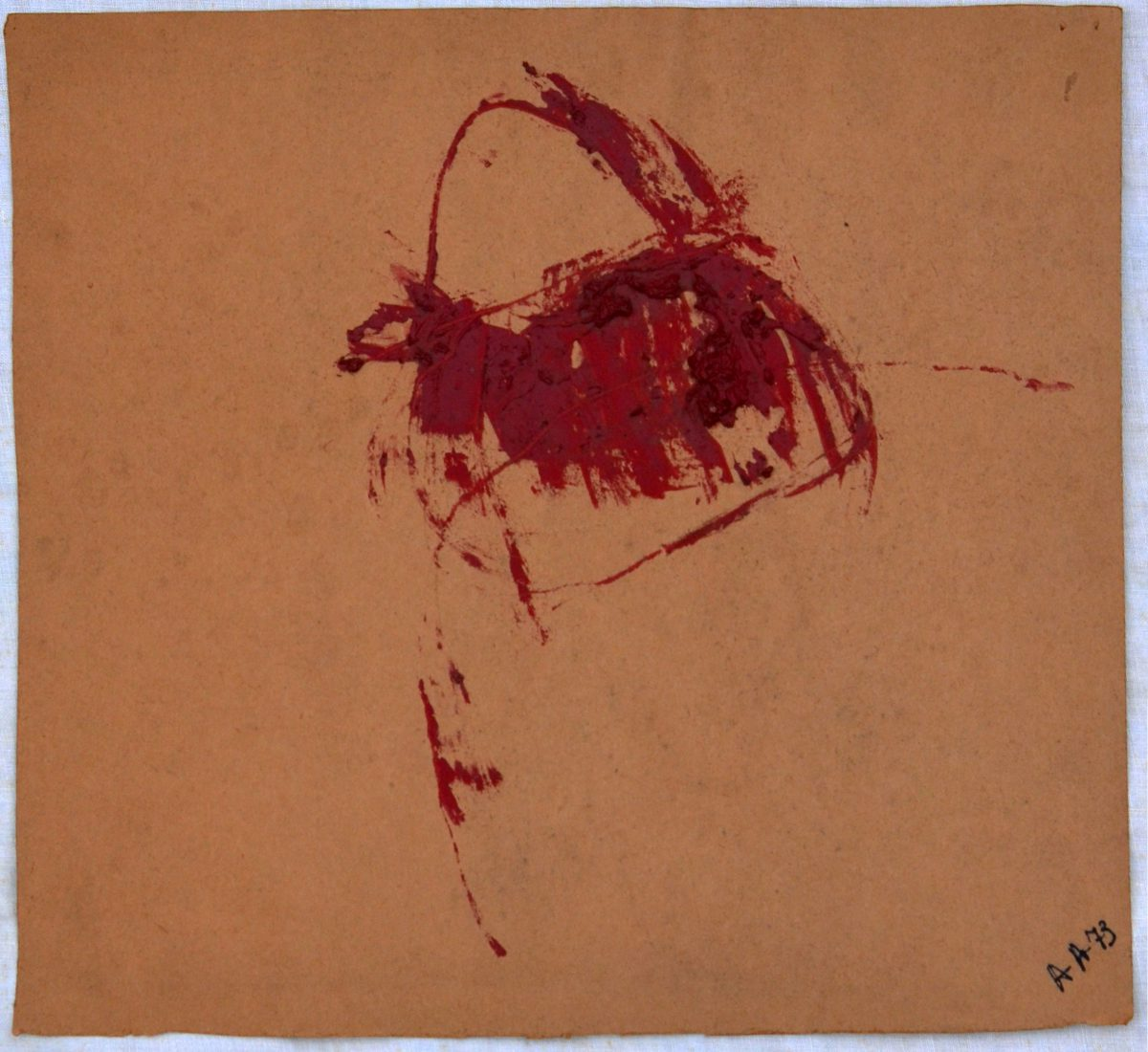 Angel Alonso - Signe rouge - 33 X 35 cm - 1973