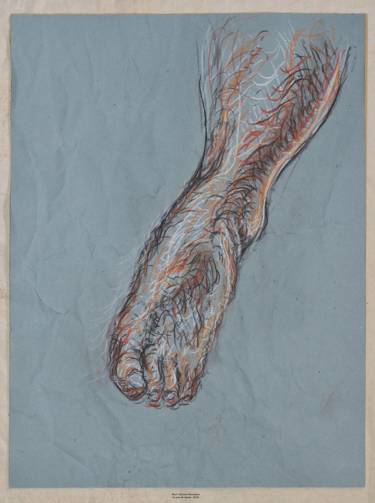 Le Pas de danse - Sanguine sur papier - 50 x 38 cm