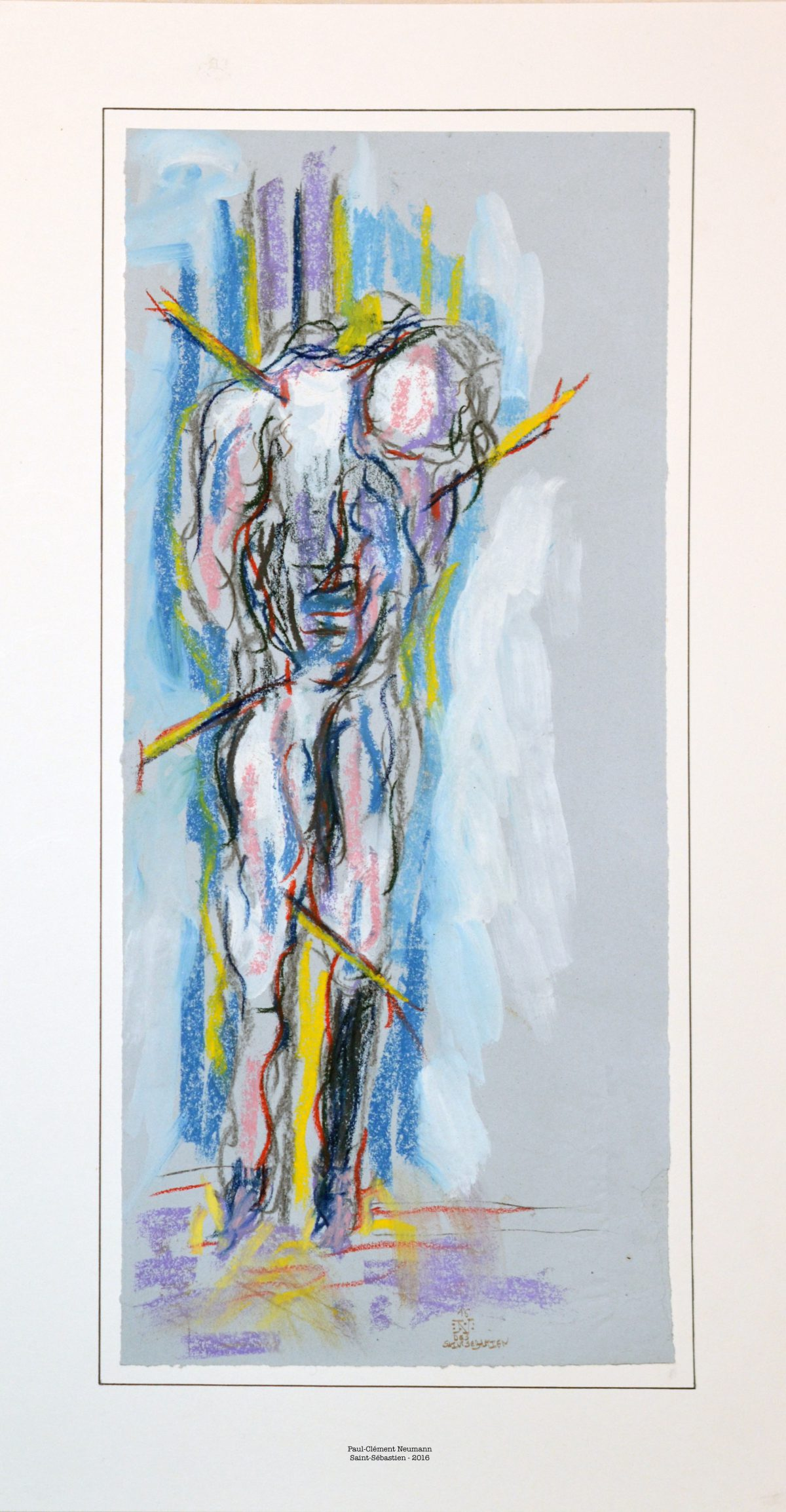 Saint-Sébastien - Pastel – 50 x 22,5 cm