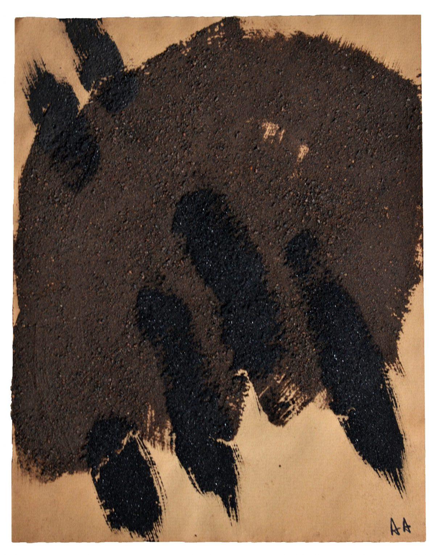 Angel Alonso - Terre et charbon - 27 X 21 cm - 1968