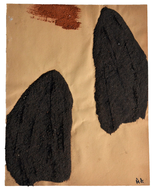 Angel Alonso - Terre griffée - Terres brunes - 27 X 21 cm - 1969