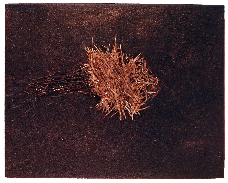 Angel Alonso - Paille sur bitume - 120 x 144 cm - 1977