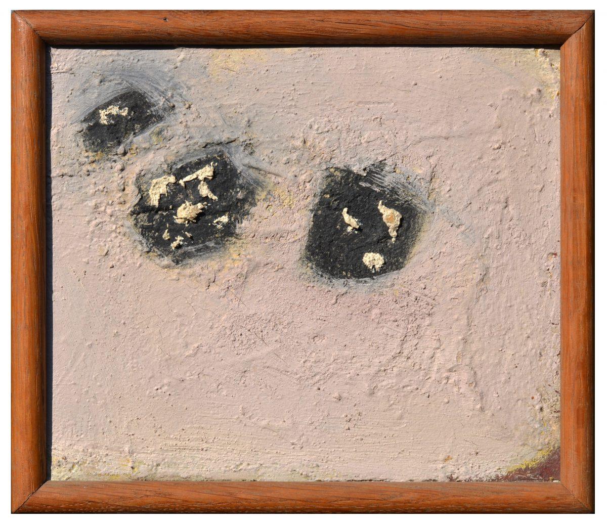 Angel Alonso -Composition - Huile sur Panneau - 25 x 30 cm - 1962