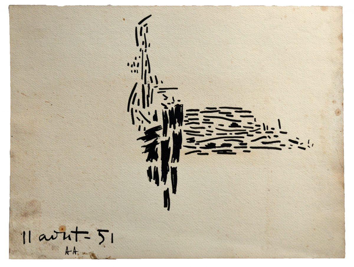 11 Août 51 - Encre de Chine - 26 X 36 cm