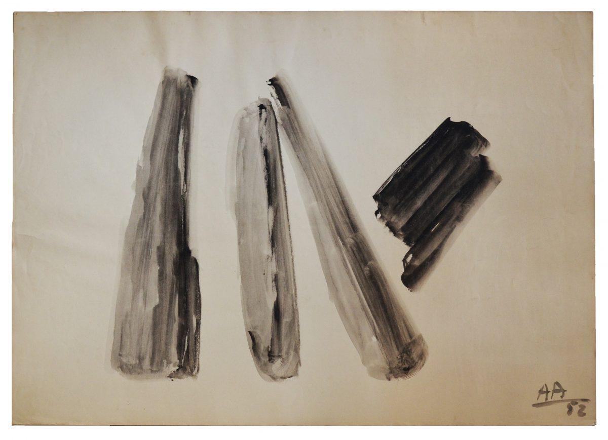 Éléments - Gouache - 56 x 76 cm - 1952