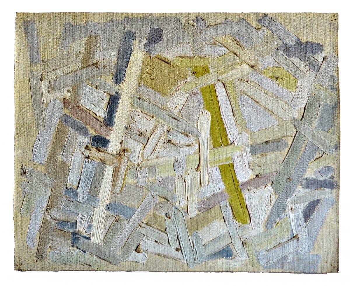 Composition - Huile sur toile - 22 x 27,1 cm - Circa 1951