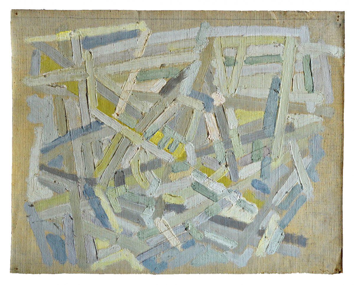 Composition - Huile sur toile - 22,5 X 27,3 cm - Circa 1951