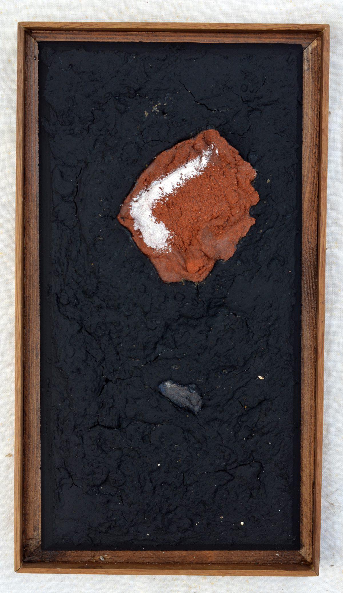 Angel Alonso - Rouge et Noir - Huile sur Papier