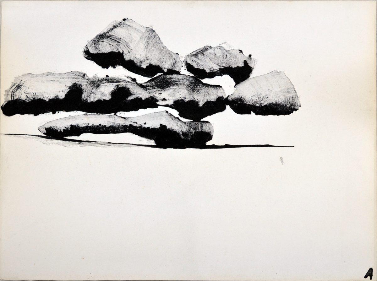 Angel Alonso - Nuage de Chartres - 50 X 65 cm - 1985
