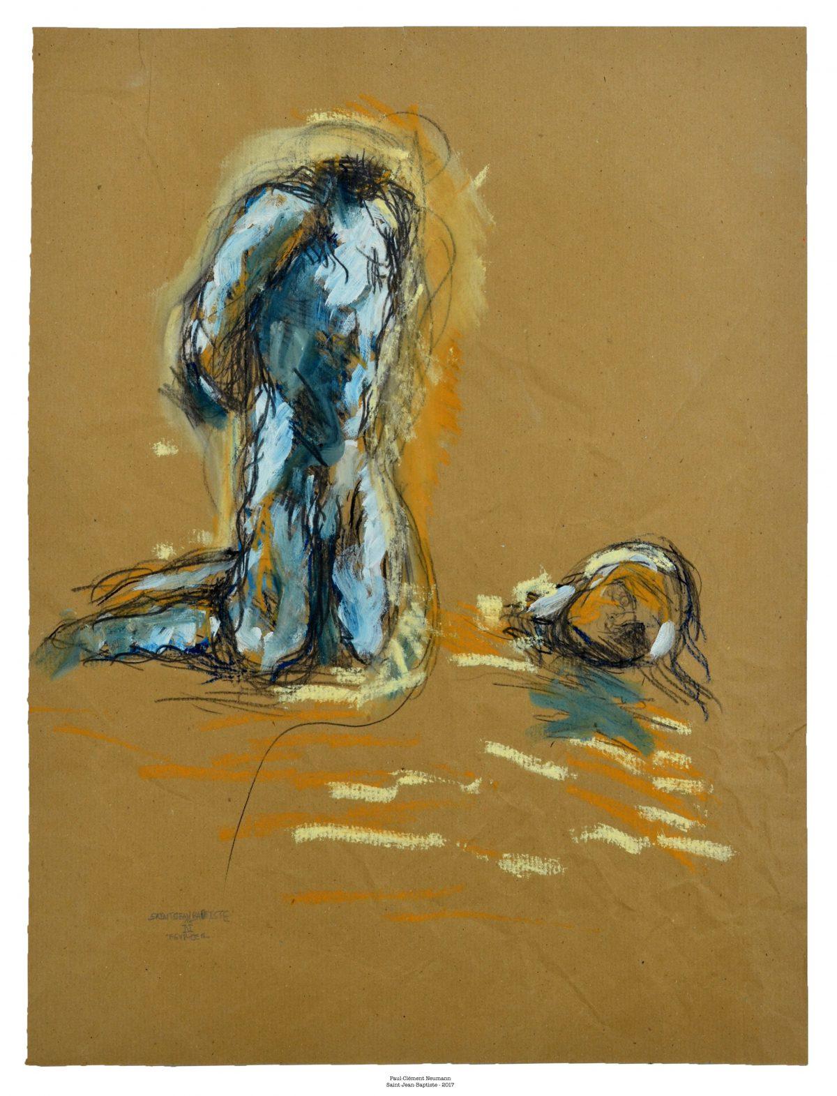 Saint-Jean Baptiste - Pastel - 50 x 37 cm