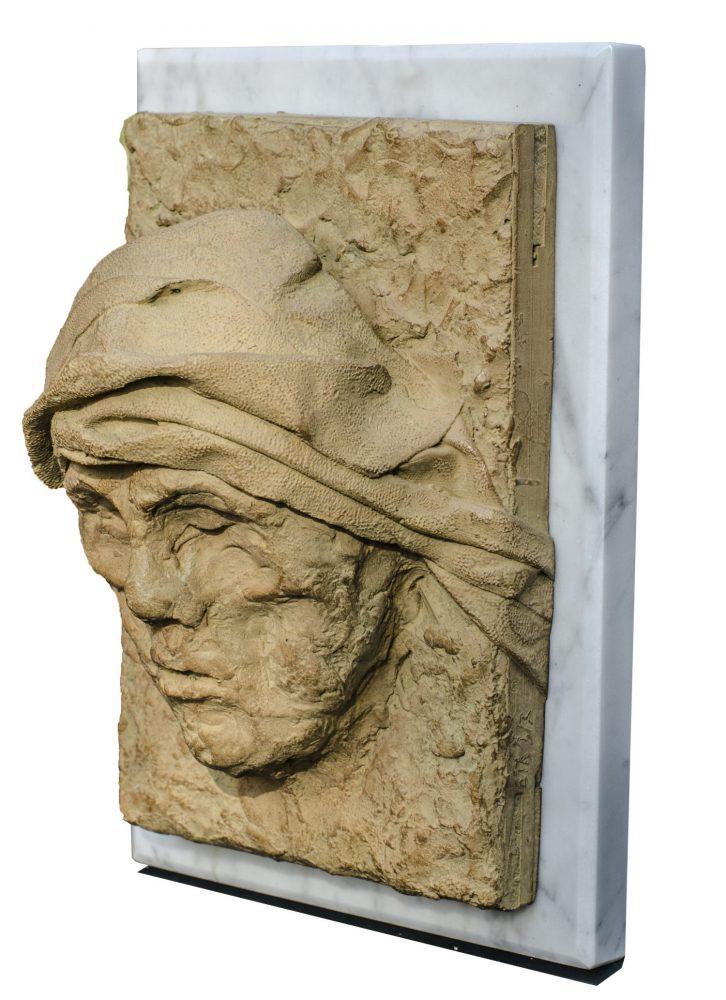 Figure de Terre - Bronze et marbre