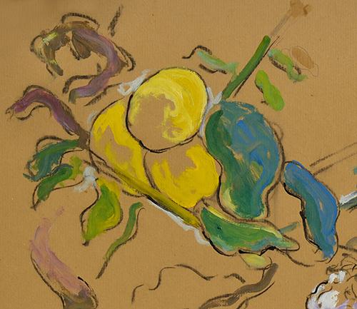 Citronnier en glycine - Tempera sur papier - 50 x 75 cm -2020